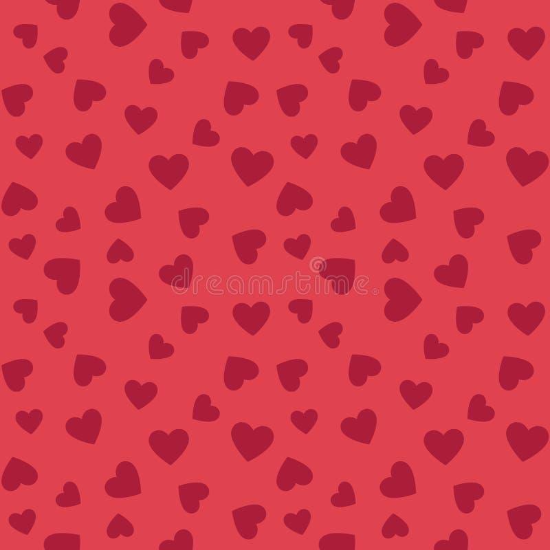 Hearts vector flat seamless pattern. Valentines background vector illustration