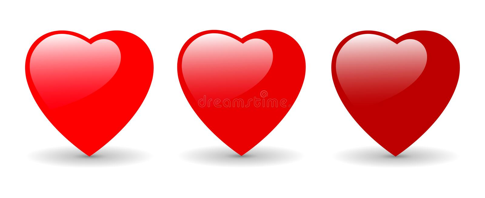 Hearts Vector illustration stock illustration