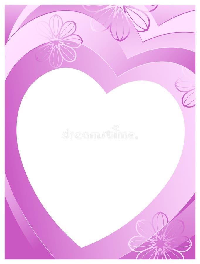 Heartsframe do amor ilustração royalty free