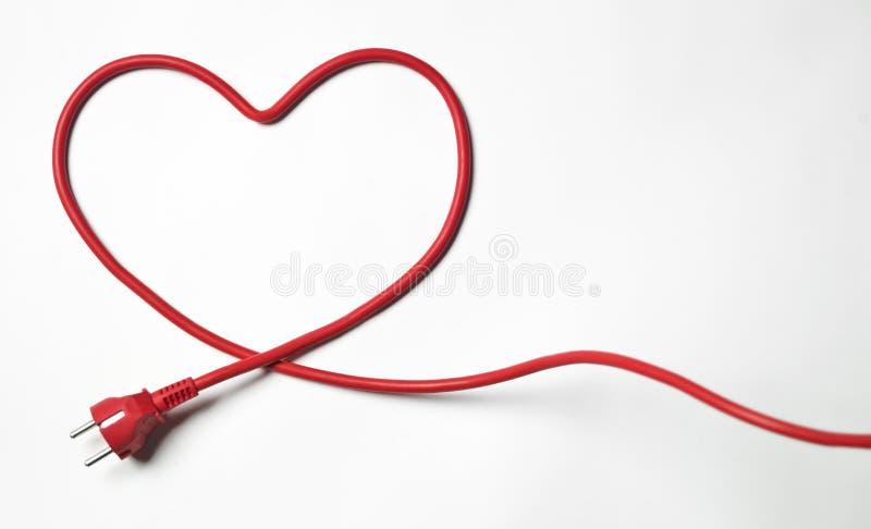 Heartshapedkabel stock fotografie