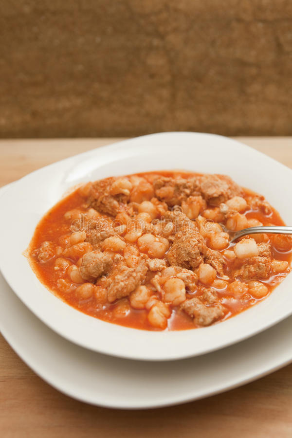 Download Hearty Bowl Of Pozole (Posole) Stock Photo - Image: 12431062