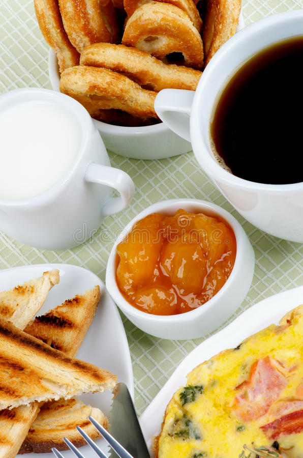 Download Hearty Breakfast stock photo. Image of apricot, brown - 33519232