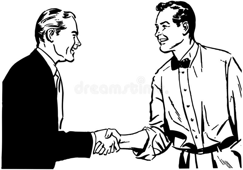 Hearty Handshake royalty free illustration