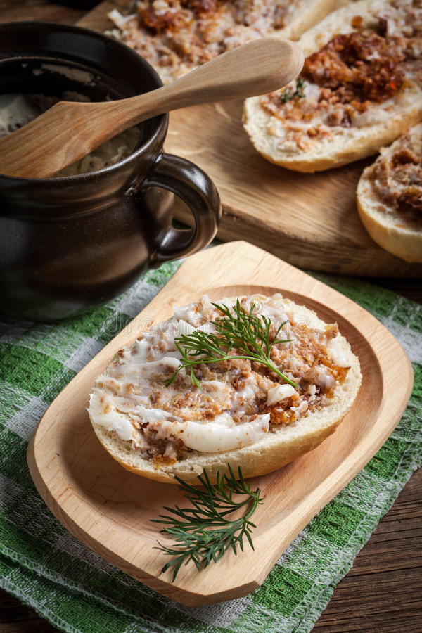 Download Hearty Lard With Greaves. Stock Photo - Image: 91248857