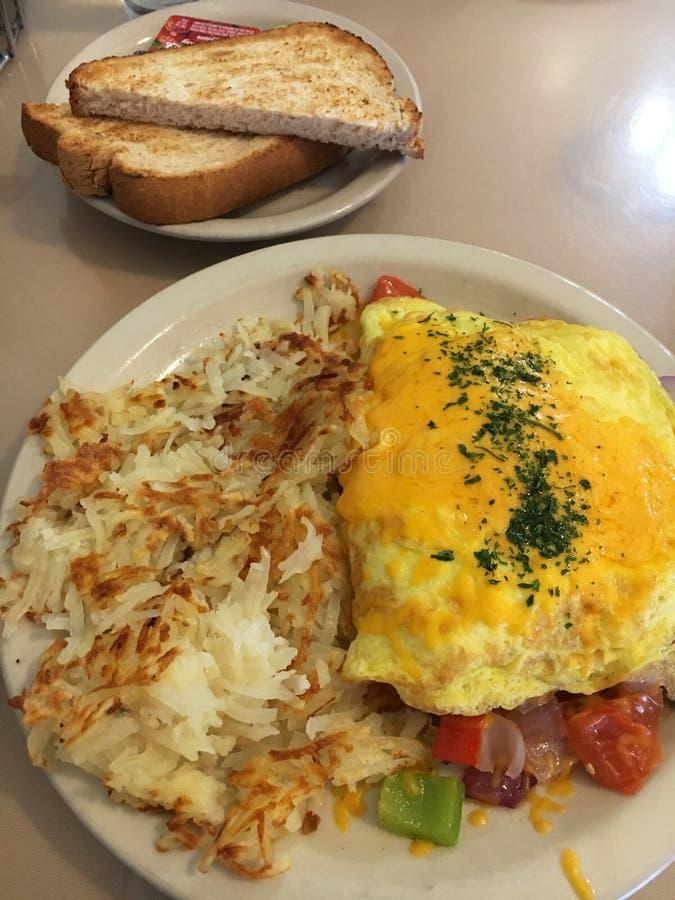Hearty omelett stock image