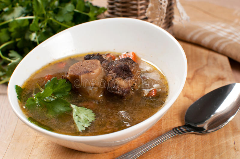 Download Hearty Soup With Bone-in Ox Tail Stock Photo - Image: 30188164