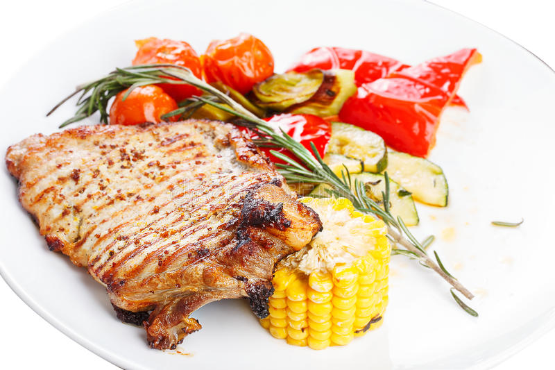 Download Hearty Steak Dinner. Grilled Meat On A Plate. Stock Image - Image of  sc 1 st  Dreamstime.com & Hearty Steak Dinner. Grilled Meat On A Plate. Stock Image - Image of ...