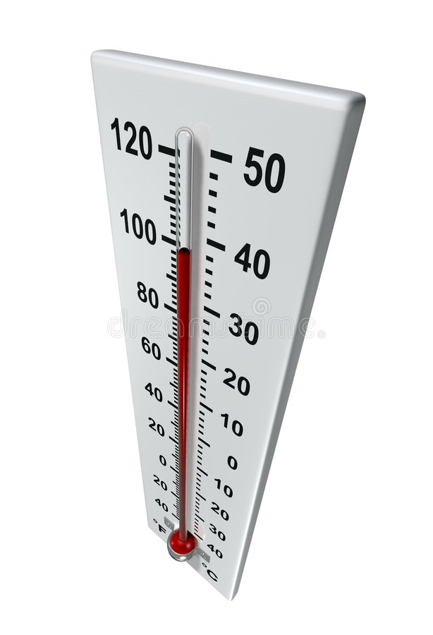 Heat. Rendered thermometer in hot environment
