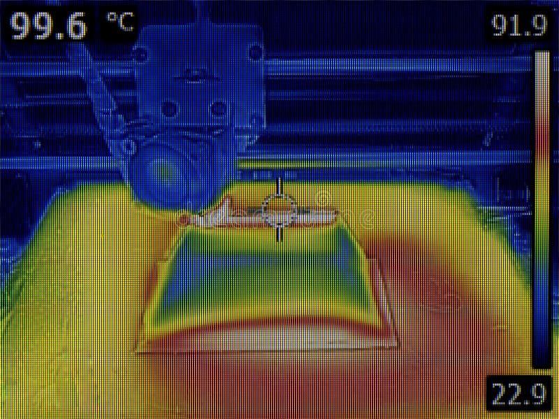 Heat Bed Temperature Distribution stock photos