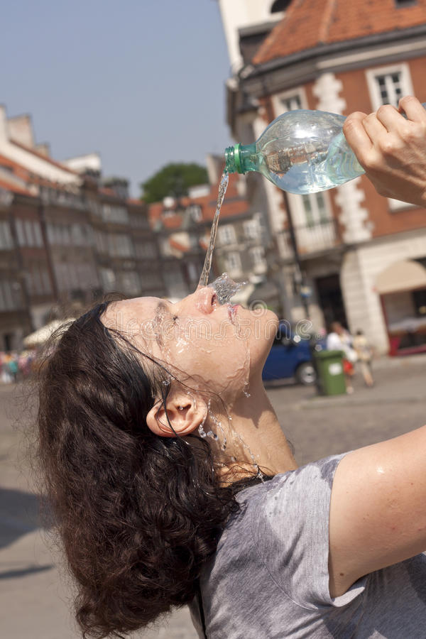 Heat in the city on street in sweltering hot days. Heat in the city on street in sweltering hot summer days concept royalty free stock images