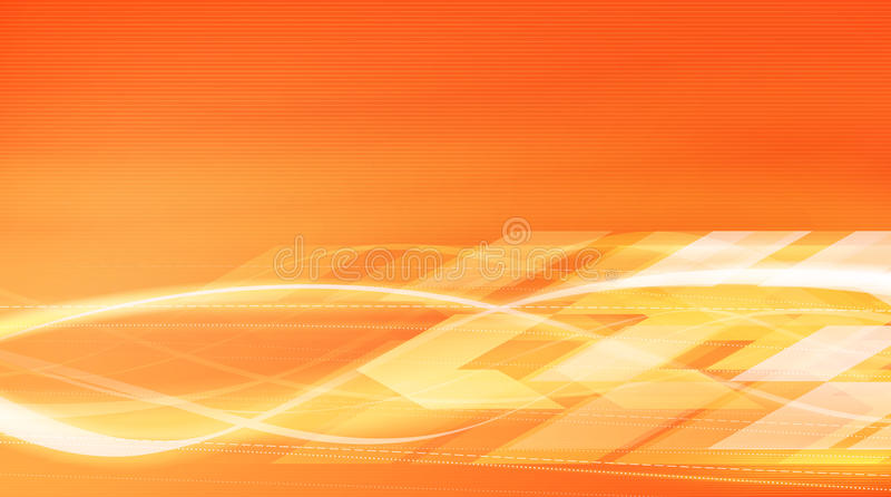 Heat energy motion in vector illustration. Vivid orange hot elements, flows and lines on bright orange background. Best choice for the backgrounds or web design