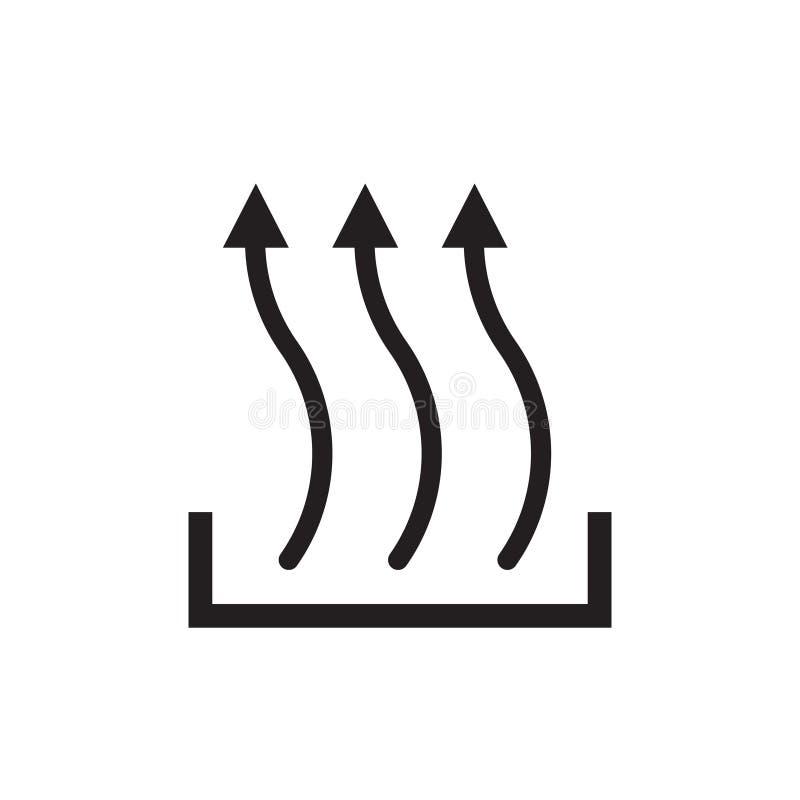 Heat icon three arrow up symbol, new concept vector illustration
