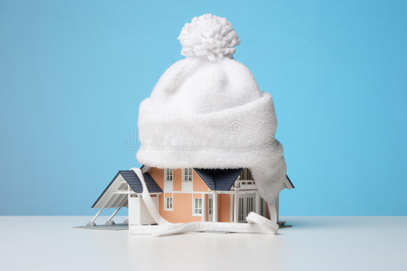 Heat insulation of house royalty free stock photos
