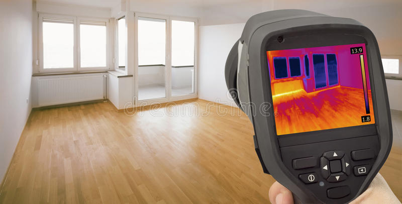 Heat Leak Infrared Detection royalty free stock photo