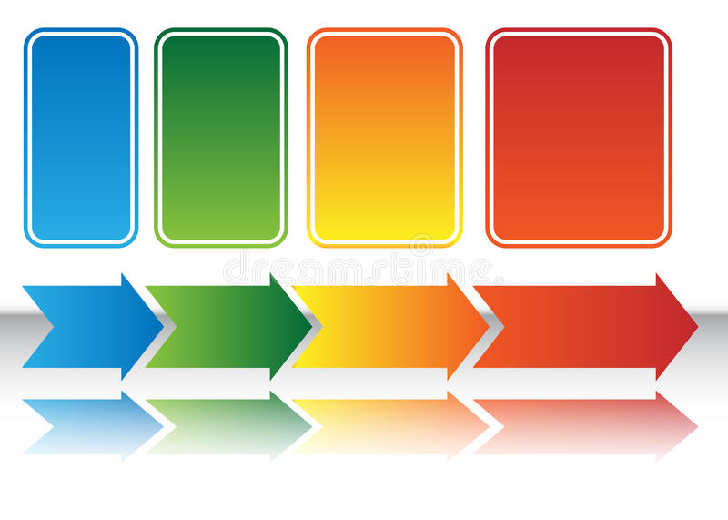 Heat Map Arrow Chart. An image of a Heat Map Arrow Chart vector illustration