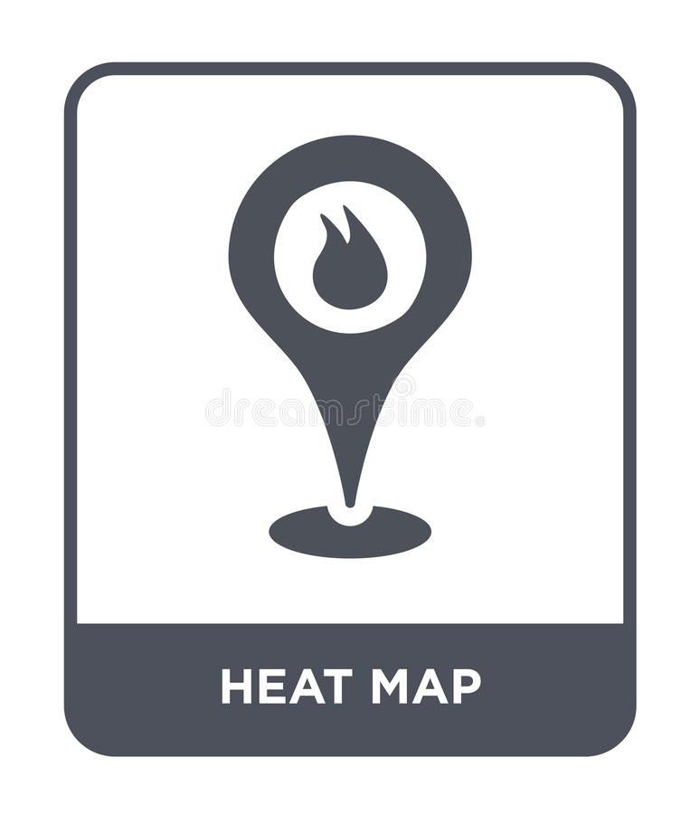 Heat map icon in trendy design style. heat map icon isolated on white background. heat map vector icon simple and modern flat. Symbol for web site, mobile, logo vector illustration