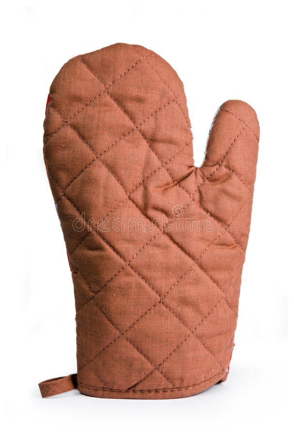 Heat protective mitten royalty free stock photo