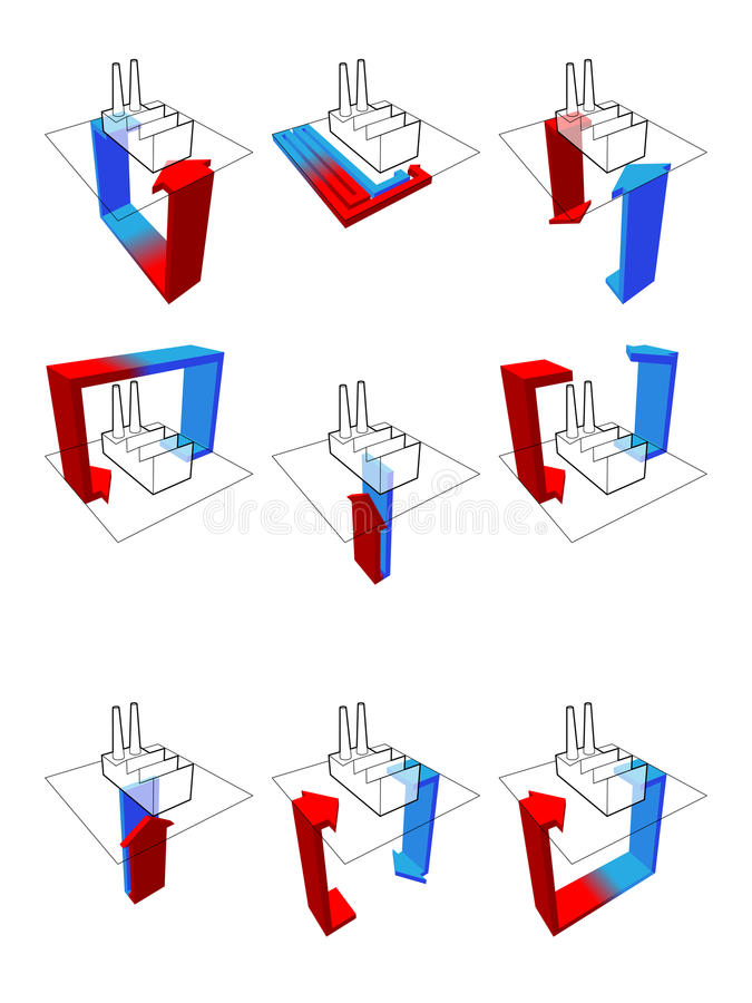 Download Heat pump diagrams stock vector. Image of heat, geothermal - 18042672