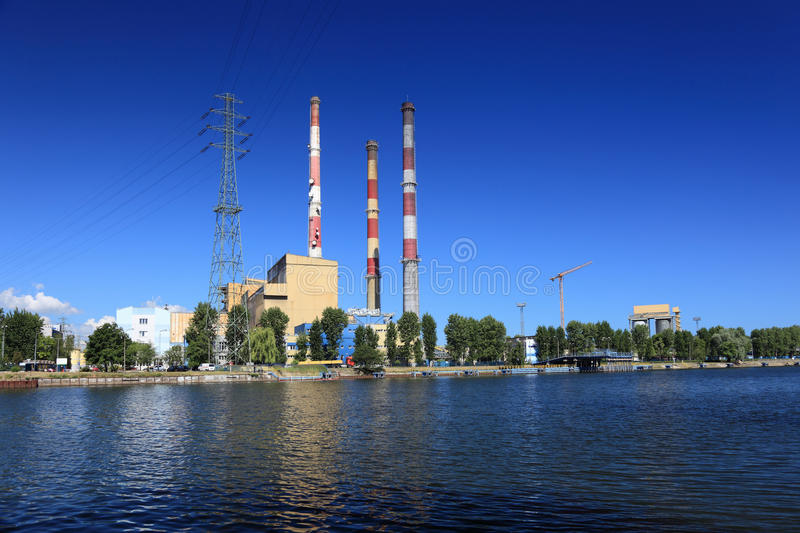 Download Heat station stock photo. Image of blue, electrical, gdansk - 15822050