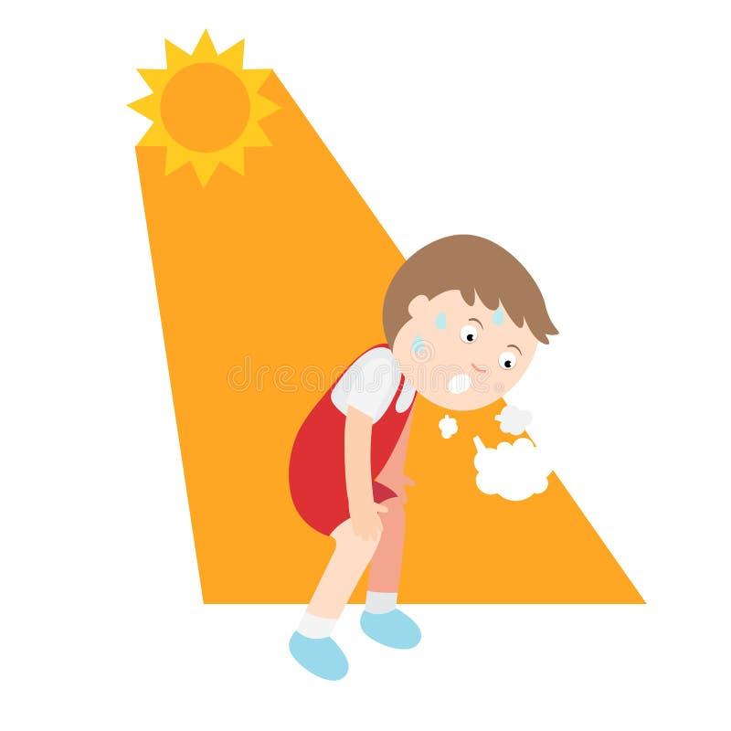 Free Heat Stroke,child Having Headache Royalty Free Stock Photo - 139043185