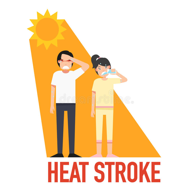 Free Heat Stroke,vector Stock Image - 91635321