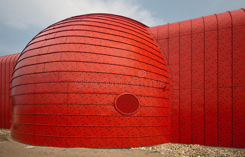 Heat transfer station in Almere, The Netherlands royalty free stock photo