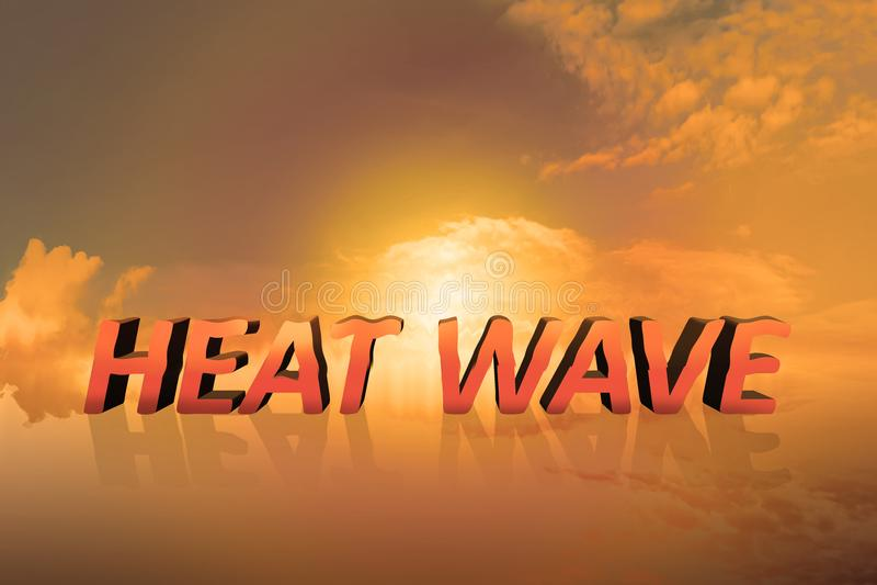 Heat wave concept vector illustration