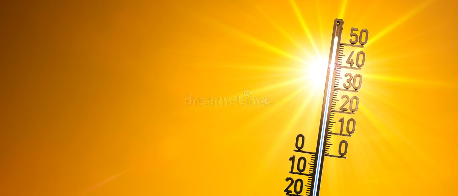 Heat wave royalty free stock photos