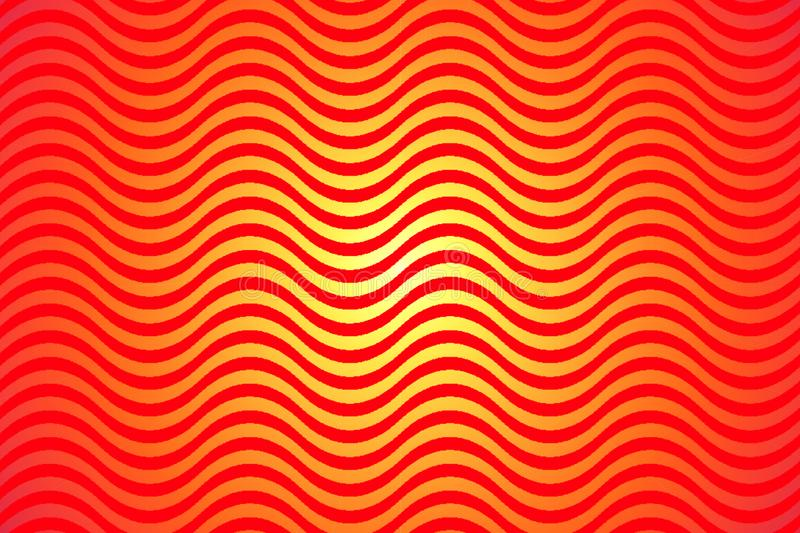 Heat wave. A vector background texture, pattern shape red and yellow fire. Sunburst Hot Heat background. royalty free illustration