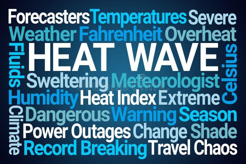 Heat Wave Word Cloud royalty free illustration