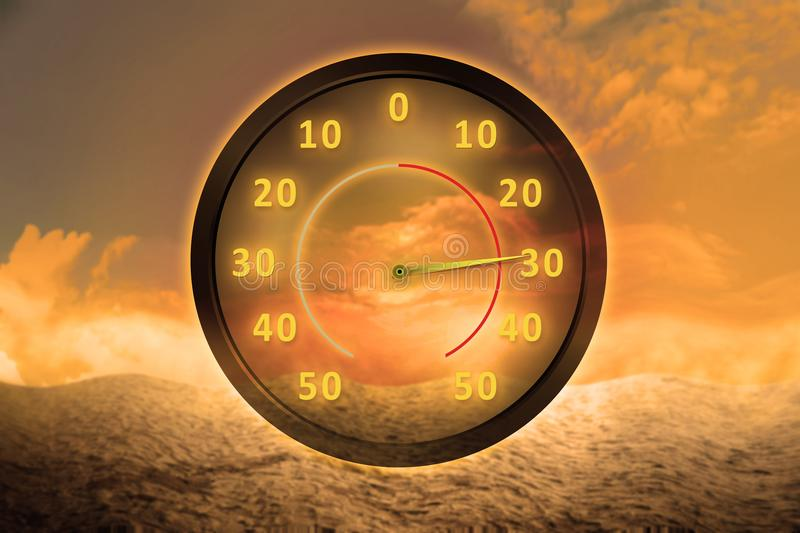 Heat wave concept royalty free stock photography