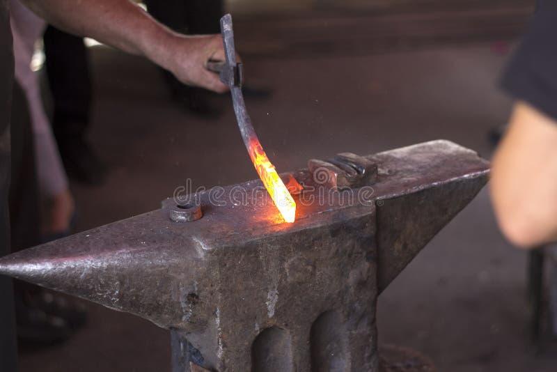 Heated металл стоковая фотография rf