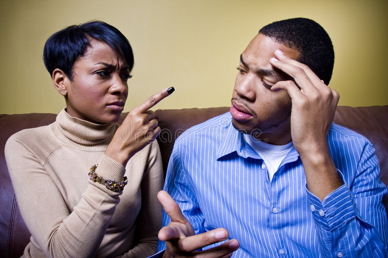 Heated argument stock image