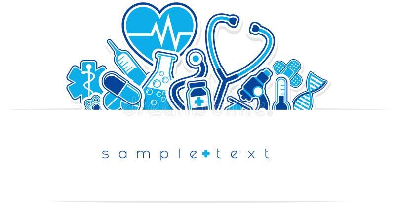 Heath care and medical design royalty free illustration