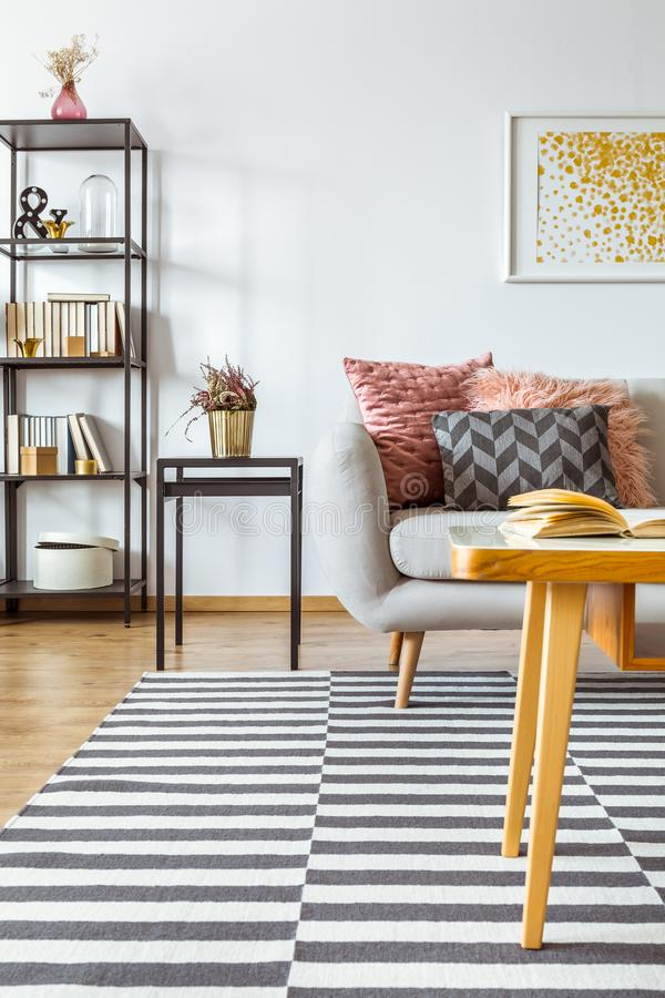 Download Heather In Living Room Interior Stock Image