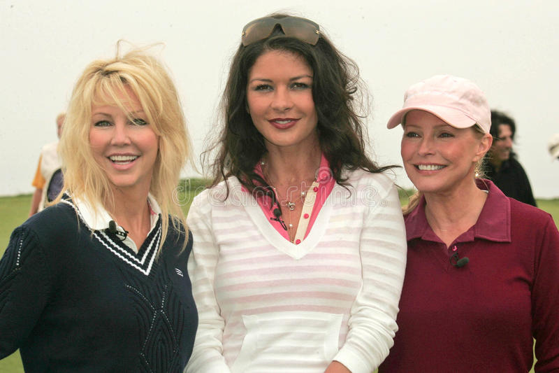 Download Heather Locklear,Catherine Zeta-Jones,Cheryl Ladd,Michael Douglas Editorial Stock Photo - Image of rancho, catherine: 30011068