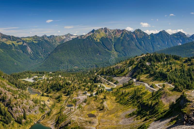 Heather Meadows, Mt. Baker, Washington stock photo