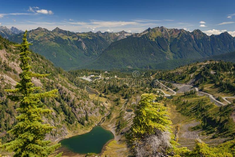 Heather Meadows, Mt. Baker, Washington stock image