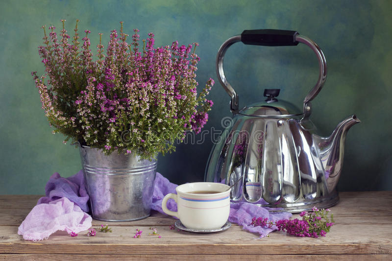Heather tea royalty free stock images