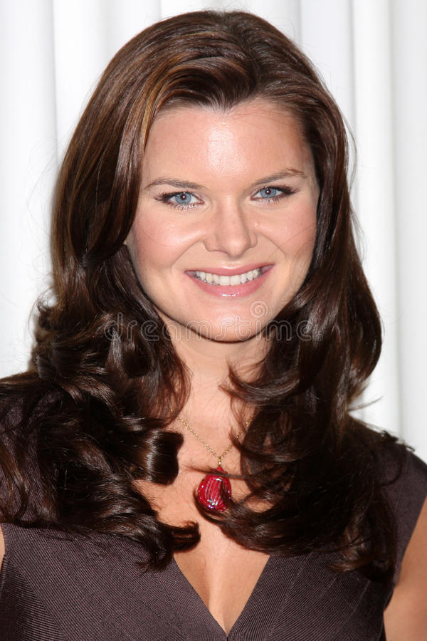 Heather Tom. At the Bold & the Beautiful Fan Club Luncheon at the Sheraton Universal Hotel in Los Angeles, CA on August 29, 2009 stock images