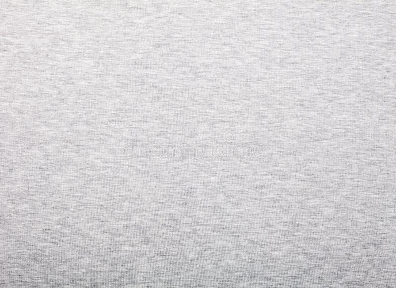 Heathered grå modell för bomullstshirttyg fotografering för bildbyråer