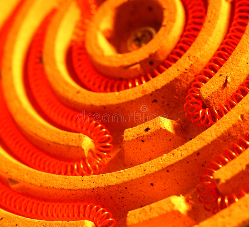 Heating coil. Close up of a heating coil element stock image