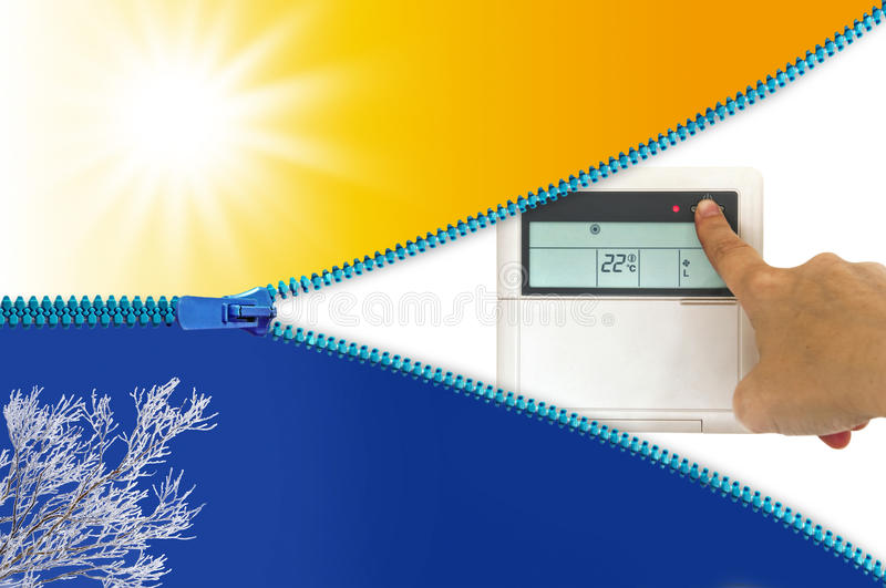 Heating and cooling air conditioner. Concept royalty free stock photos