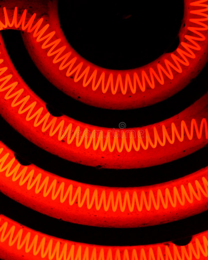 Heating Element. Close up of a heating coil element stock photography