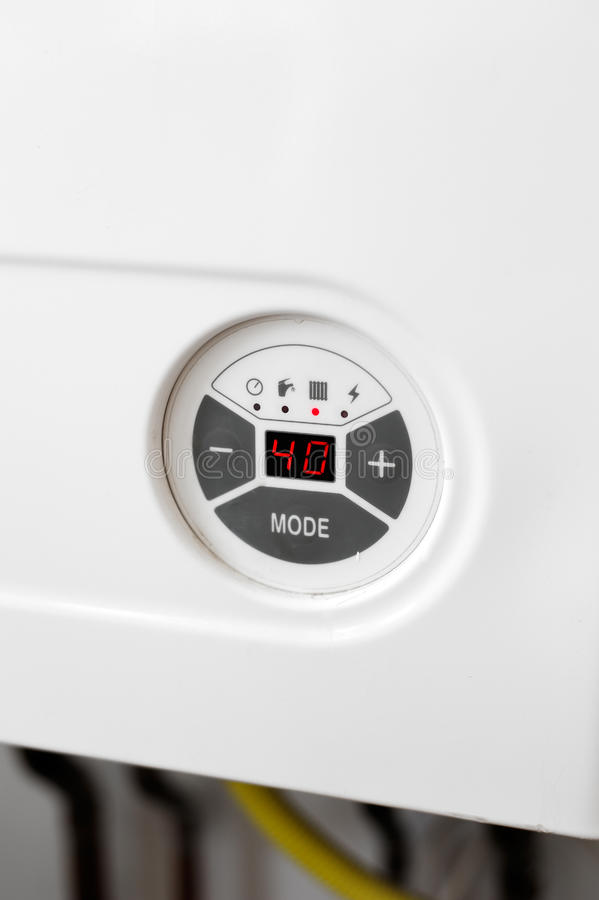 Free Heating Gas Boiler Control Panel Detail Stock Image - 19214771
