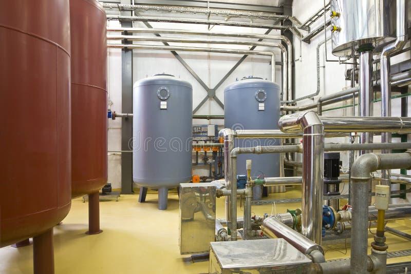 Heating system boiler room stock image