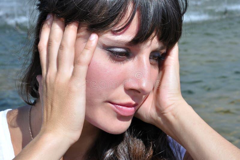 Download Heatstroke stock photo. Image of brunette, tired, dizziness - 24820962