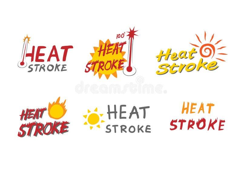 HeatstrokeLOGO-Konzept vektor abbildung