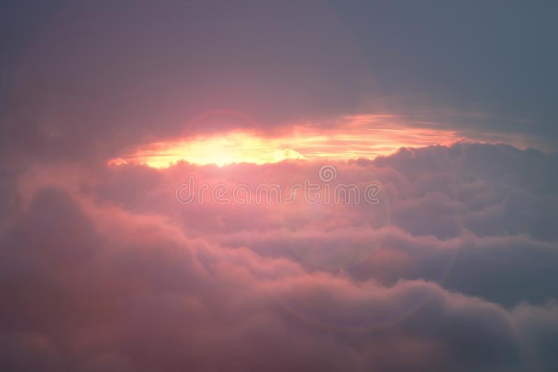 Heaven concept with dreamy fantasy cloudscape royalty free stock photos