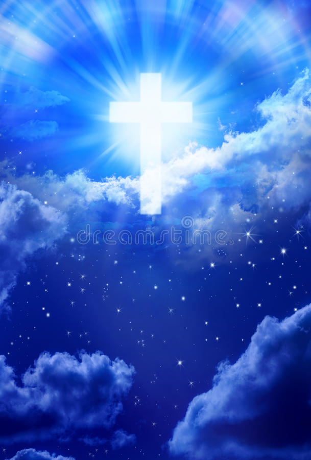 Heaven Cross Sky Christian God stock photo